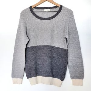 Madewell Colorblock Grandpa Sweater SZ L